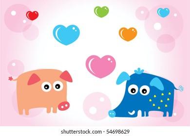 love piggy doodle