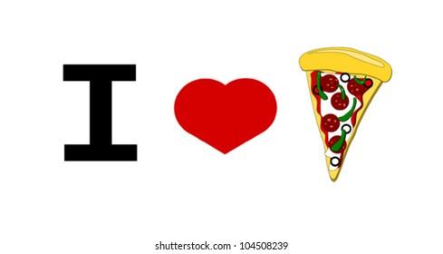 I love pizza graphic design