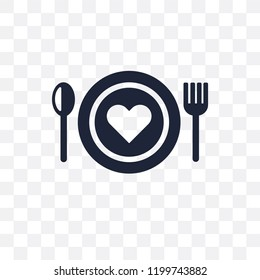 love Plate transparent icon. love Plate symbol design from Wedding and love collection. Simple element vector illustration on transparent background.