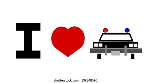 I love the police illustration