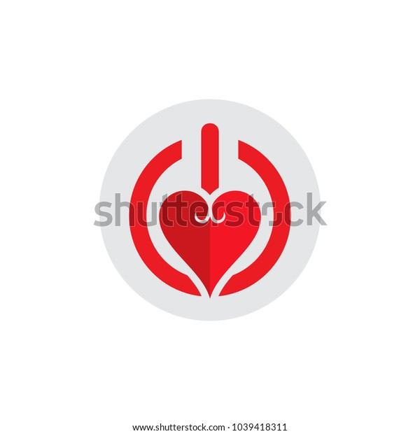 Love Power Logo Icon Design