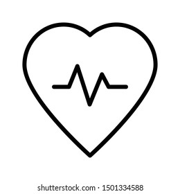 love pulses thin line vector icon