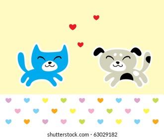 love puppy and kitten