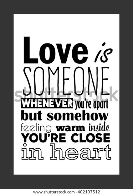Love Quote Love Missing Someone Whenever Stock Vector ...