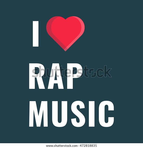 Love Rap Music Flat Vector Icon Stock Vector (Royalty Free) 472818835