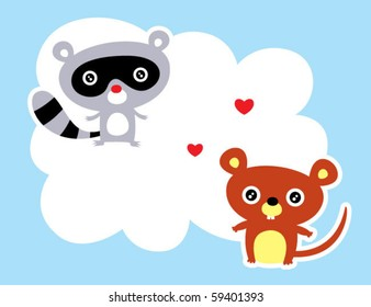 love rat and raccoon