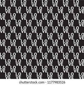 Love Repetition Seamless Pattern Slogan for T-Shirt Graphic Vector Print