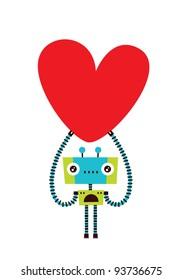love robot doodle