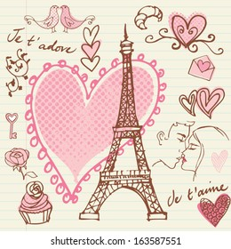 Love & romance in Paris background