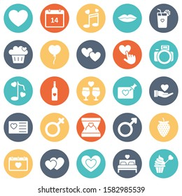 Love and Romance Vector Icons set which can easily modify or edit