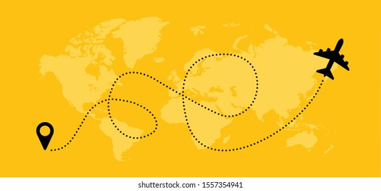 Love Romantic travel Airplane Aircraft  Aeroplane air plane flying fly jet airline line path vector fun funny icon sign airmail pin location pointer route trace gps track vacation holliday suitcase