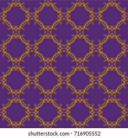 love in the round gold on purple