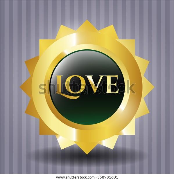Love rubber grunge stamp