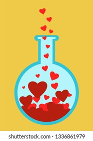 Love science tube, chemistry and romance