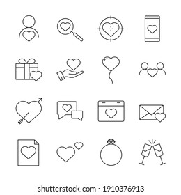 love set icon, isolated love set sign icon, vector illustration