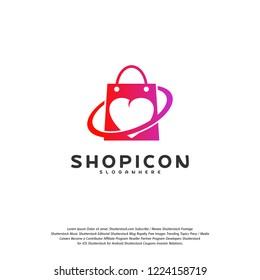 Love Shop Logo Template Design Vector