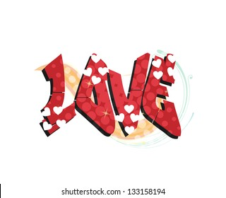 Love sign graffit illustration