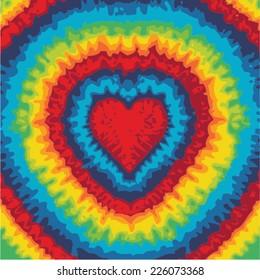 Love sign Mandala - Hippie style