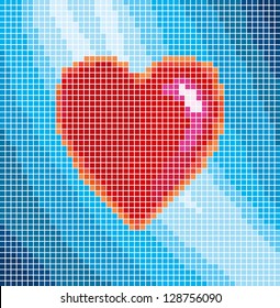 love sign with more color cube