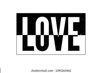 Love skecth drawing modern Fashion Slogan for T-shirt