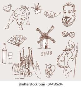 Doodle Spain Images, Stock Photos & Vectors | Shutterstock