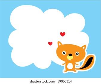 love squirrel message