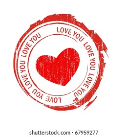 Love stamps, heart