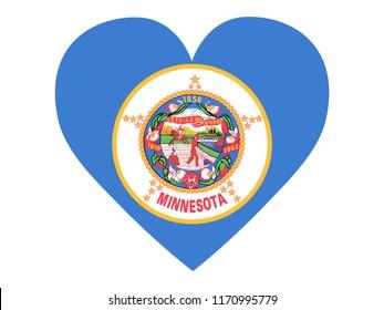 Love State Flag of Minnesota