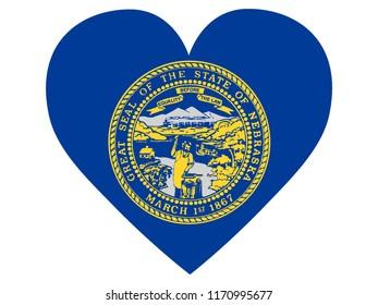 Love State Flag of Nebraska