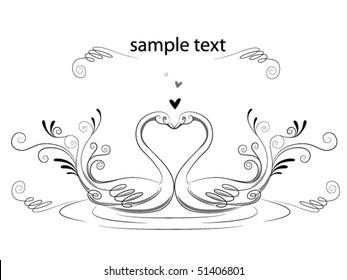 Love Swans - Vector