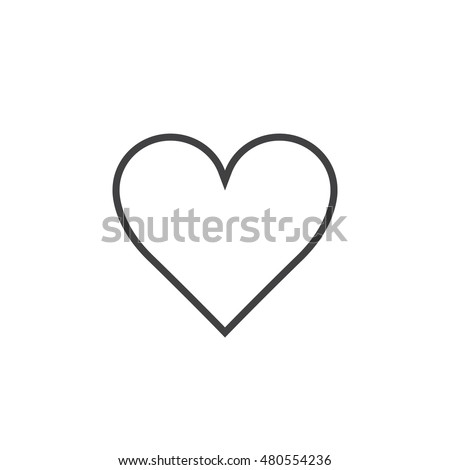 Love Symbol Heart Line Icon Outline Stock Vector Royalty Free