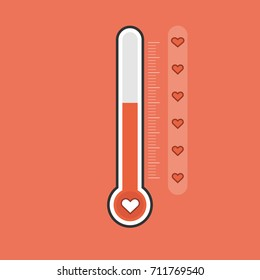 Love thermometer Valentines Day