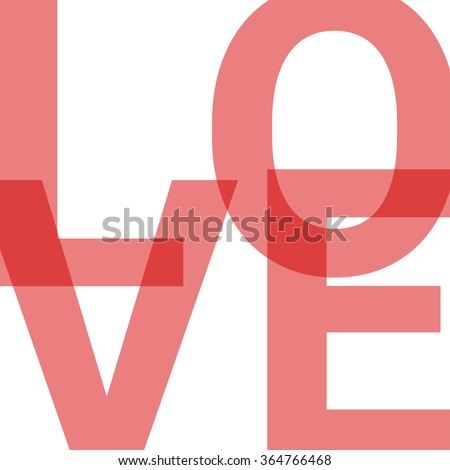 Love Transparent Logo Red Word Vector Stock Vector (Royalty