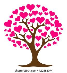 love tree logo design template