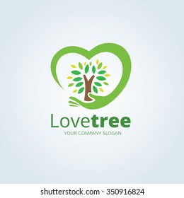 Love Tree Logo Template