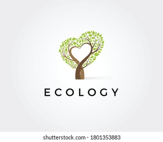 Love Tree Logo Template icon