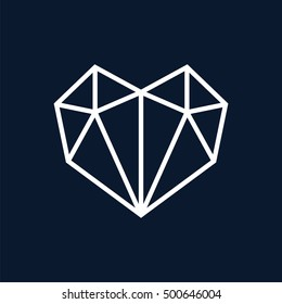 Love triangle logo vector