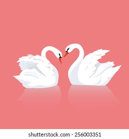 Love of two swans