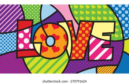 LOVE. TYPO. Modern pop art artwork for your design