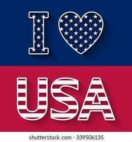 I love USA illustration. vector illustration - eps 10