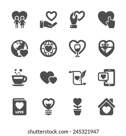 love and valentine icon set 3, vector eps10.