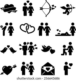 Love and valentine icons