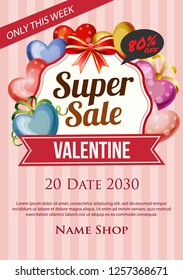 love valentine super sale poster