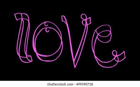 love. Vector quote. Hand lettering. Typographic element for your design.
