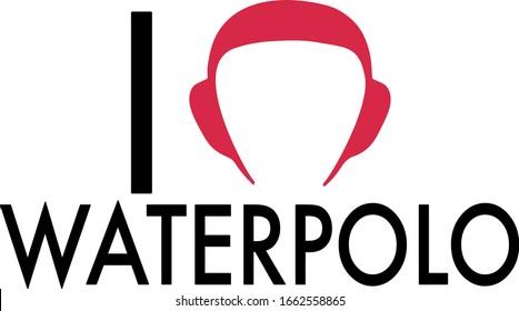 I love Waterpolo Vector Design