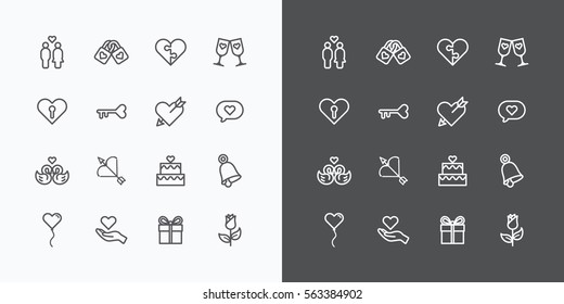 Wedding Icons Line Images Stock Photos Vectors Shutterstock