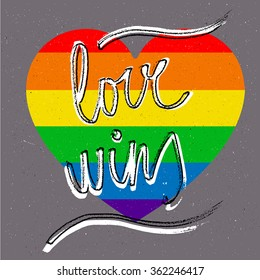 love wins lgbt rainbow heart