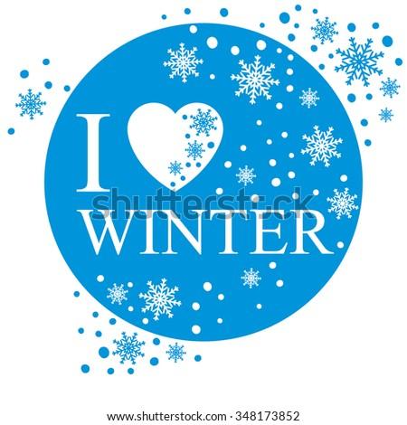 Love winter greeting card snow background stock vector royalty free i love winter greeting card snow background m4hsunfo