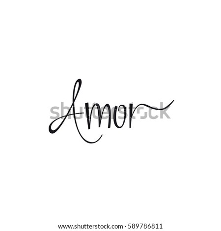 Love Word In Spanish Lettering