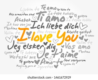"""love words """"I love you"""" in different languages of the world"""